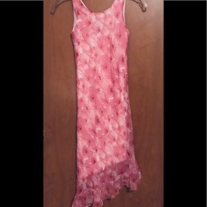 Hype pink floral sleeveless dress. Easter ready